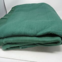 Vintage Chatham 100 Acrylic Blanket Forest Green 102 X 90 King Nwob