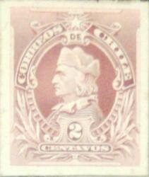 J 1910 Chile Die Proof American Bank Note Colon 2 Cents Red