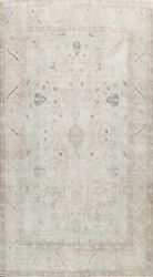 Muted Semi Antique Traditional Vintage Distressed Hand-knotted Area Rug 10x13