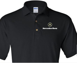 Mercedes-benz Logo Printing On Polo Shirts 10 Colors Sizes S-5xl