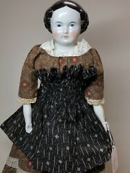 17andrdquo Antique German Porcelain China Head Doll Kestner High Brow 1870-80andrsquos A