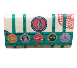 Soda Pop Serpent Recycled Clutch With Vintage Bottle Tops Fair Trade Cambodia