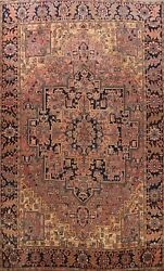 Vintage Geometric Traditional Area Rug Hand-knotted Oriental Wool Carpet 10x13