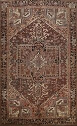 Antique Geometric Traditional Area Rug Living Room Hand-knotted Wool Carpet 9x12