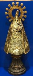 Vintage Department Dept 56 Madonna And Baby Jesus Large Statue 28 Queen Mary