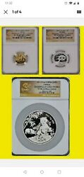 2012 China Issuance Of Gold Panda 3 Coin Set G50y And S3y Ngc Pf 70 Ultra Cameo