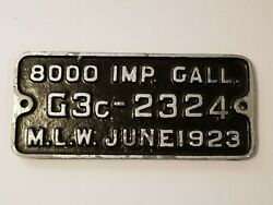 Cpr Canadian Pacific Railroad Locomotive Tender Plate