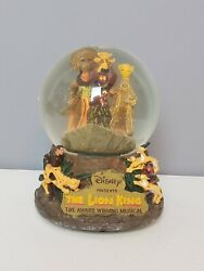 Disney The Lion King Musical Snow Globe Plays Circle Of Life Song