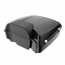 Advan Black Pearl Chopped Tour Pack Trunk Luggage Fits Harley Touring 1997-2020