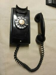 Wall Rotary Phone, Western Electric, Black 354 T462 G-21
