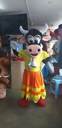 Clarabelle Cow Clubhouse Friend Mickey Mouse Mascot Costume Character Cosplay