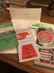 Lot 6 Canada Travel Brochures Map Of Montreal 1939 Guite's Lodge St. Foy Chateu