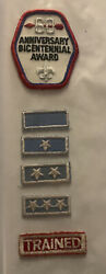 1975 Oa 60th Anniversary Bicentennial Award Sash Patch, Stars And Trained Patch