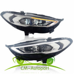 Hid Headlights For Ford Fusion 2 Front Bumper Led Bi-xenon Head Lamps 2017-up