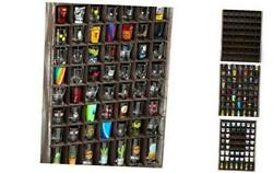 Rustic Wood Shot Glasses Display Case 56 Compartments Wall Mount Pint glass S $62.45