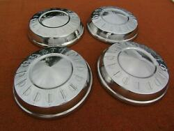 1960and039s Dodge Plymouth Nos Set Of 4 Mint Orig Mopar Police Dog Dish Hubcaps