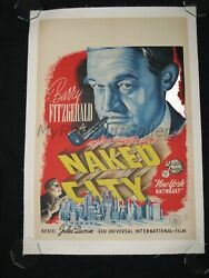 The Naked City 1948 Barry Fitzgerald Howard Duff Dir. Jules Dassin Movie Poster