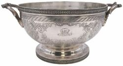 950 Early American Silver Centerpiece Bowl By Ball And Black