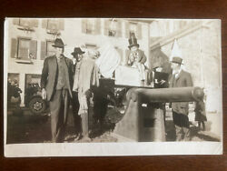 Rppc Ww1 Anti-german Boy Dressed As Uncle Sam On Coffin Of The Kaiser D22