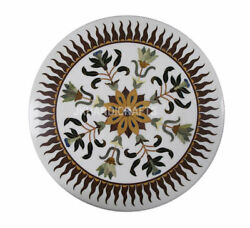 36 X 36 Marble Coffee Table Top Random Imarti Work Inlaid Home Decor Gifts