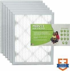 Filters Fast 10x10x1 Pleated Air Filter 6 Pack Ac Furnace Air Filters