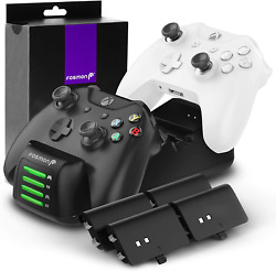 Fosmon Quad Pro Controller Charger For Xbox One X S Elite With Four Packs