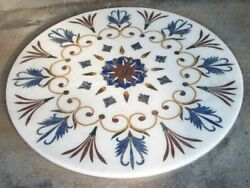 Gift 36 Marble Coffee Side Table Top Precious Floral Design Inlay Bedroom Decor