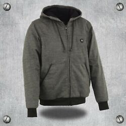 Menandrsquos Zipper Front Heated Hoodie W/ Front And Back Heating Elementandrsquos