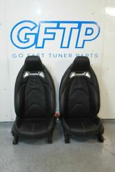 2020 A90 Toyota Supra Oem Black Leather Front Seat Set Pair Lh Rh Factory Stock