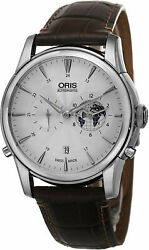 Oris Culture Greenwich Mean Time Silver Dial Menand039s Watches 0169076904081setls