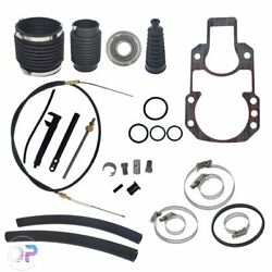For Mercruiser Alpha 1 One Gen 1 Transom Service Kit Gimbal Shift Cable Bellow