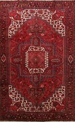 Vintage Excellent Traditional Area Rug Hand-knotted Carpet Red 10x13 Oriental