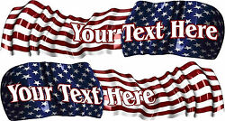 Usa Custom Name Boat Car Truck Graphics Vinyl Stickers American Flag Decals 48
