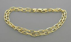 New 14k Yellow Gold Oval Link Chain Necklace 3mm - 4.5mm Sizes 14-24
