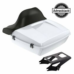 Advanblack Crushed Ice Pearl Chopped Tour Pack For 97-20 Harley Davidson Touring