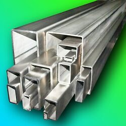 316 Stainless Steel Rectangular Box Section  Any Size  Any Length