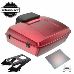 Velocity Red Sunglo Chopped Tour Pack For 1997+ Harley Touring Flhr Flhxs Fltrx
