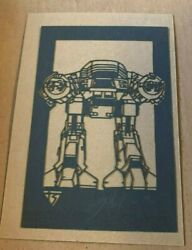 Tyler Stout Laser Cut Ed-209 Robocop Radiation Burn Signed And Numbered Limited