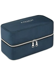 New COACH fragrance dark blue vanity TOILETRY cosmetic Dopp kit bag POUCH Case $24.00