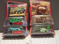 Set Of 4 Cars From Animated Disney Movie Cars By Mattel