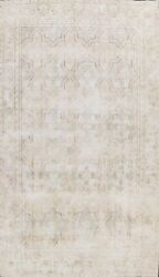 Vintage Evenly Low Pile Traditional Muted Area Rug Distressed Hand-knotted 8x12