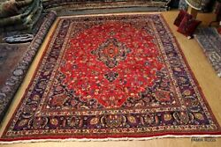 Vintage Circa 1930's Antique Tabris Authentic Handmade Hand-knotted 10'x13' Rug