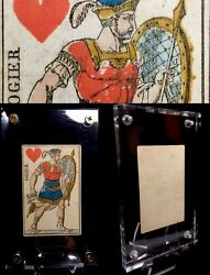 1811 Gorgeous Authentic Antique Playing Cards Historic Stencil Painted Single