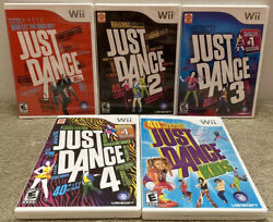 Just Dance 1 2 3 4 And Kids Wii Dancing Fitness Game Lot Set Bundle Tested Family