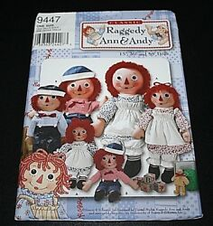 New Raggedy Anne And Andy Pattern Dolls Clothes 15 26 And 36 Sz Boys And Girl -c