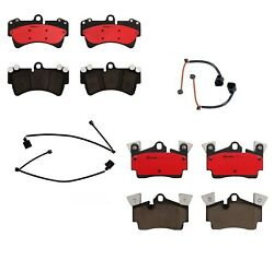 Brembo Front And Rear Brake Pads Set With Sensors Kit For Audi Q7 Porsche Cayenne
