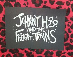 JOHNNY HOBO AND THE FREIGHT TRAINS folk punk cloth patch PAT THE BUNNY $3.50