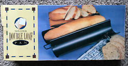 Non Stick Aluminum French Baguette Double Loaf Bread Pan Nib $17.99
