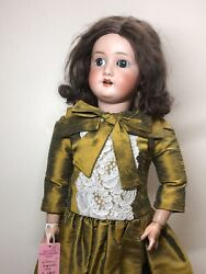25andrdquo Antique German S Star H Hoffmeister 1909 Ball Jointed Compo Silk Dress L