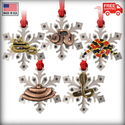 Snake Snowflake Christmas Tree Ornaments 15 Options Made In The Usa
